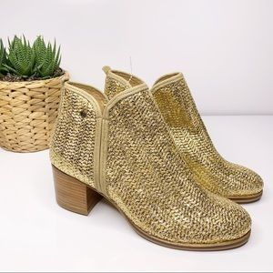 Anthropologie Cubanas Woven Ankle Boots